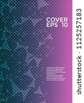 trendy cover page layout.... | Shutterstock .eps vector #1125257183