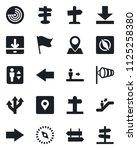 set of vector isolated black... | Shutterstock .eps vector #1125258380