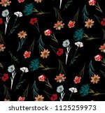 beautiful floral pattern in the ...   Shutterstock . vector #1125259973