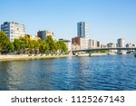 li ge with the river meuse in... | Shutterstock . vector #1125267143