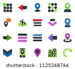 colored vector icon set   route ...
