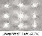 white glowing light burst... | Shutterstock .eps vector #1125269843