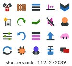 colored vector icon set  ... | Shutterstock .eps vector #1125272039