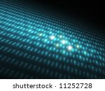 Blue Orbs 3D - Fractal Design - stock photo