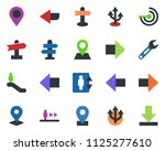 colored vector icon set  ... | Shutterstock .eps vector #1125277610