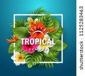 vector illustration of tropical ... | Shutterstock .eps vector #1125283463