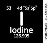 periodic table element iodine... | Shutterstock .eps vector #1125286556