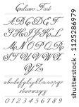 elegant calligraphy letters... | Shutterstock .eps vector #1125286979