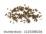 black pepper on the white... | Shutterstock . vector #1125288236