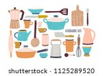 collection of glassware ... | Shutterstock .eps vector #1125289520