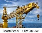 crane  pedestal crane winch ... | Shutterstock . vector #1125289850