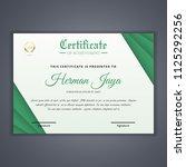 certificate template in vector... | Shutterstock .eps vector #1125292256