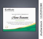 certificate template in vector...   Shutterstock .eps vector #1125292280