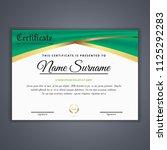 certificate template in vector...   Shutterstock .eps vector #1125292283