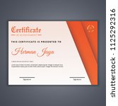 certificate template in vector...   Shutterstock .eps vector #1125292316