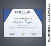 certificate template in vector... | Shutterstock .eps vector #1125292823