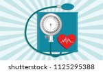 tonometer medical mechanical  ... | Shutterstock . vector #1125295388