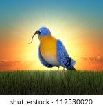 Bluebird Standing In Green...