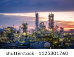 oil and gas refinery plant or... | Shutterstock . vector #1125301760