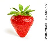 strawberry isolated on white... | Shutterstock . vector #1125303779