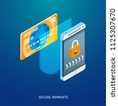 secure payments concept. image...   Shutterstock .eps vector #1125307670
