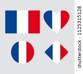 vector flag of france. set of... | Shutterstock .eps vector #1125315128