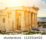 side view of parthenon temple... | Shutterstock . vector #1125316433