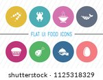 flat ui 8 color round food  ...