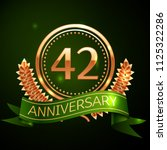realistic forty two years... | Shutterstock .eps vector #1125322286