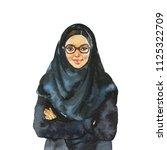 hand drawn arabian business... | Shutterstock . vector #1125322709