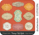 vintage label set | Shutterstock .eps vector #112532396