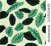 seamless tropical pattern.... | Shutterstock .eps vector #1125325610