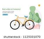 bike rental. travel and tourism ... | Shutterstock .eps vector #1125331070