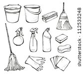set of cleanings tools isolated ... | Shutterstock .eps vector #112533248