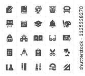 icon set   school and education ... | Shutterstock .eps vector #1125338270