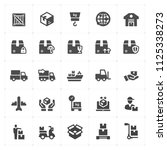 icon set   logistic and... | Shutterstock .eps vector #1125338273