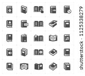 icon set   book filled icon... | Shutterstock .eps vector #1125338279