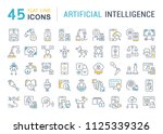 set of vector line icons  sign... | Shutterstock .eps vector #1125339326