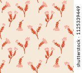 ditsy painterly floral seamless ... | Shutterstock .eps vector #1125339449