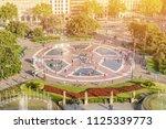 plaza catalunya barcelona spain ... | Shutterstock . vector #1125339773