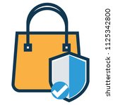 defence line vector icon... | Shutterstock .eps vector #1125342800