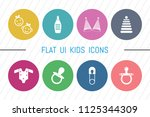 flat ui 8 color kids icon set....