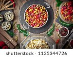 pasta in a composition with... | Shutterstock . vector #1125344726