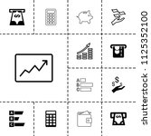 economy icon. collection of 13... | Shutterstock .eps vector #1125352100