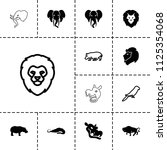 zoo icon. collection of 13 zoo... | Shutterstock .eps vector #1125354068