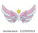 magic wings in cute little... | Shutterstock .eps vector #1125355313