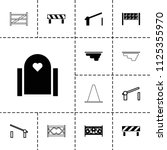 barrier icon. collection of 13... | Shutterstock .eps vector #1125355970
