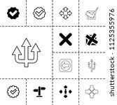 right icon. collection of 13... | Shutterstock .eps vector #1125355976