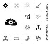 gear icon. collection of 13... | Shutterstock .eps vector #1125356099