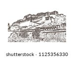 the potala palace in lhasa ... | Shutterstock .eps vector #1125356330